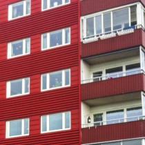 FSN genomförde fönsterbyte åt Akelius Fastigheter i kvarteret Hägern, Luleå