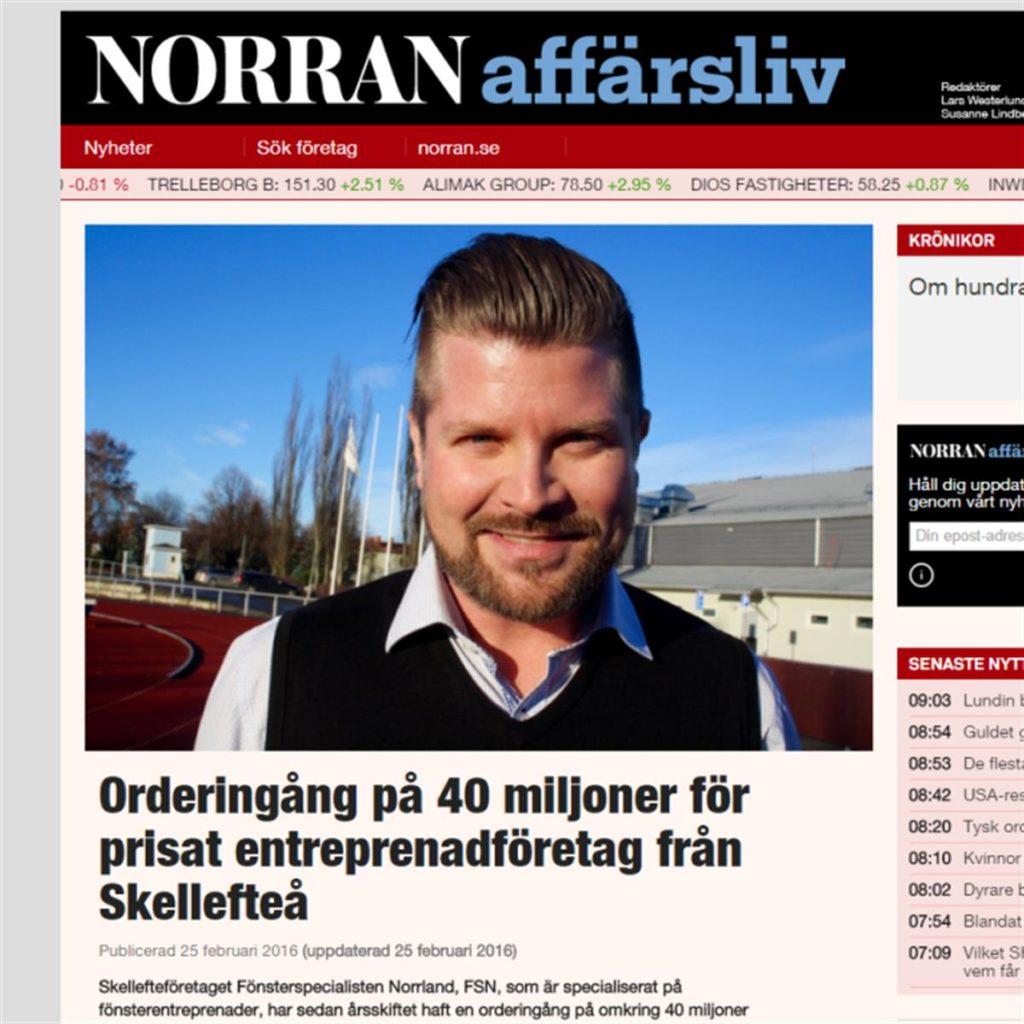 FSN UPPMÄRKSAMMAT FÖR ORDERINGÅNG