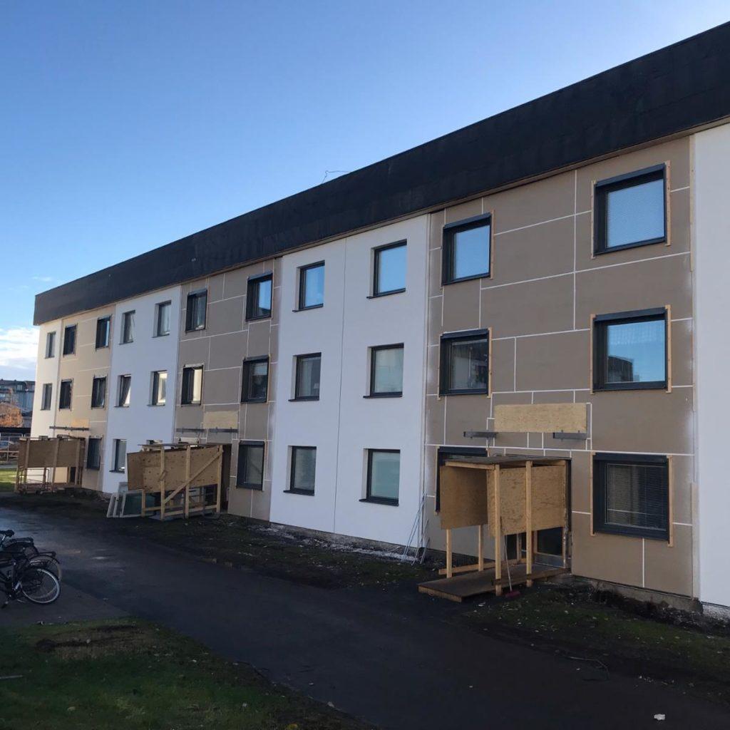 Fönsterbyte och trapphusrenovering på Brf Flyttfågeln, Umeå